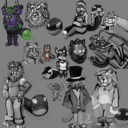 Léon & Tuna Scraps collage
