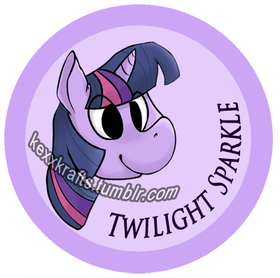 Twilight Sparkle button