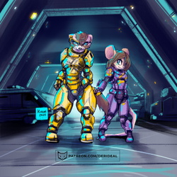 Mix and Pixi in heavy armor