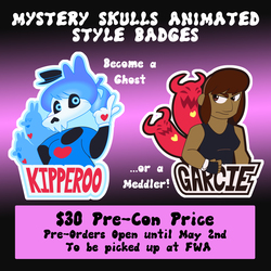 Mystery Skull Animated Badge Pre-Orders