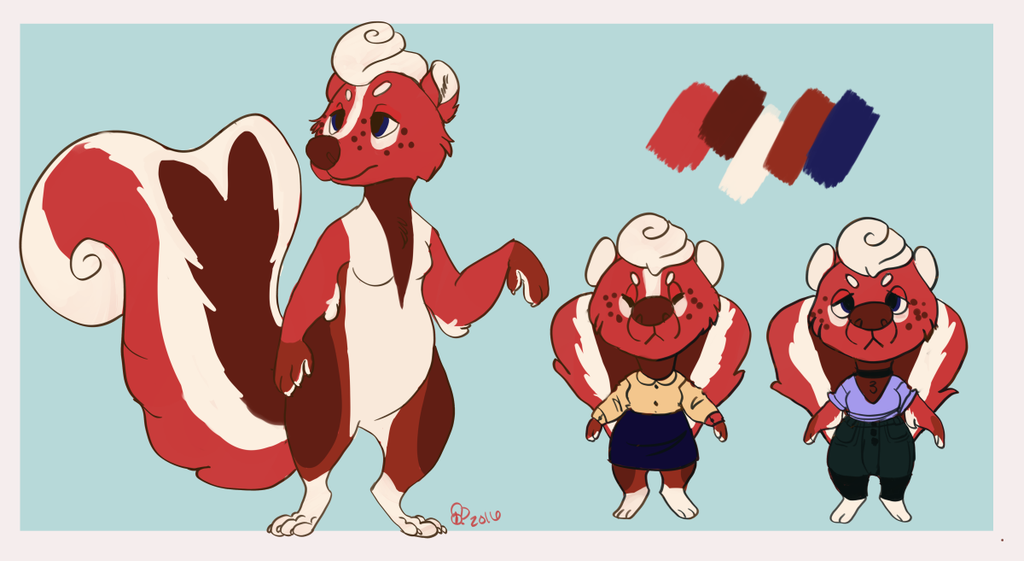 Red Velvet Skunk Design