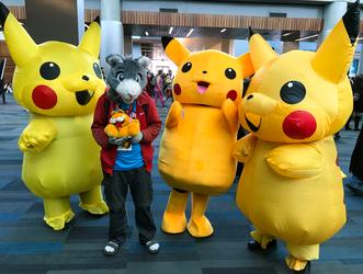 Peter and the Pikachu Trio (Fanime'19)