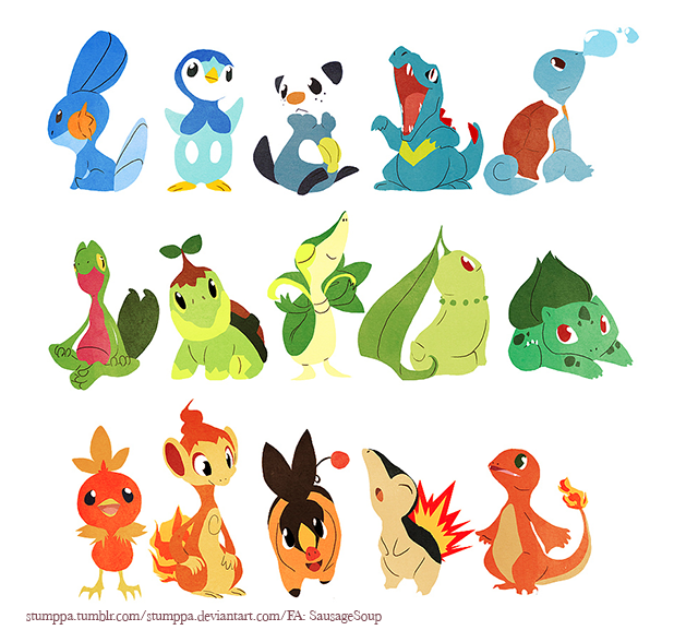 Starters Up Till 5th Gen!