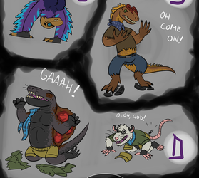 The Dino Epidemic [[and More]] Artdump