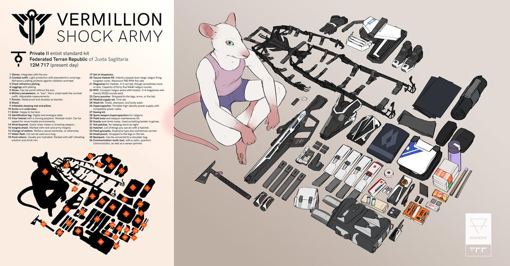 Vermillion Shock enlist's kit