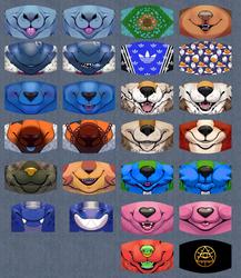 Finished face masks