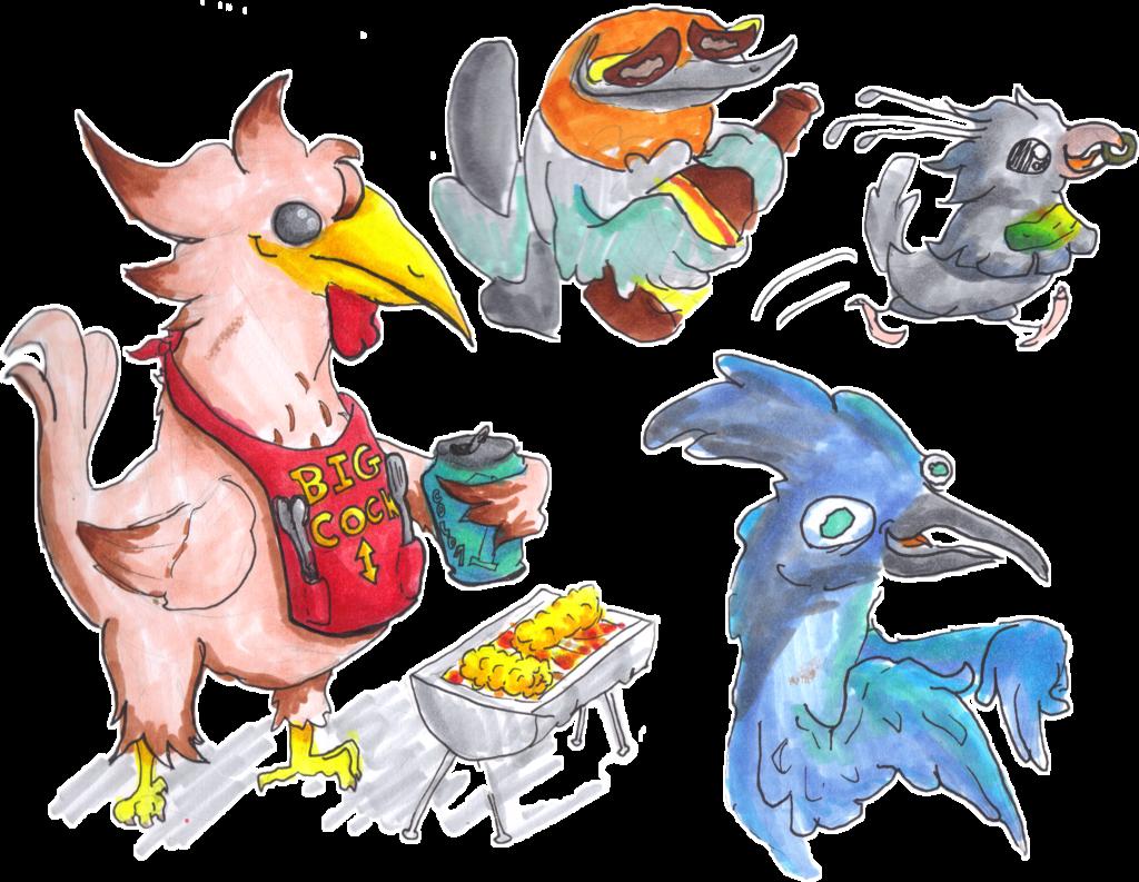 buncha birds