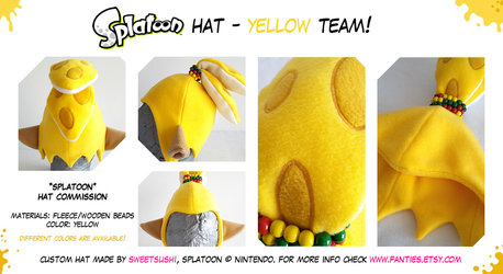 "Splatoon ""Boy"" Hat - Yellow Team!"