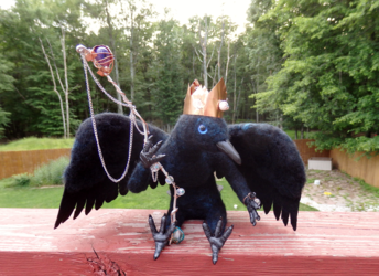 The Crow King Art Doll