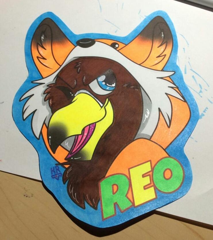 Colored Reo UV Badge Wip