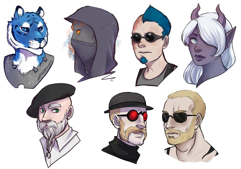 [commission] Headshots 4