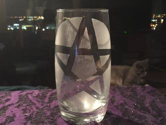 Etched Pentacle Glass
