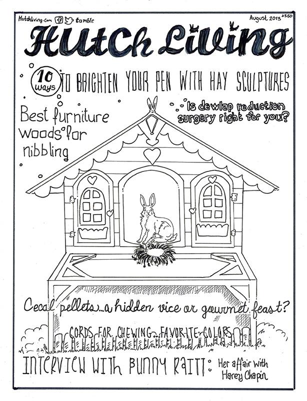 Rabbit Association Newsltter Art: Hutch Living Magazine