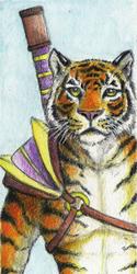 Warrior Tiger Bookmark - 2011