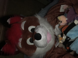 Taking a nap with my plushies