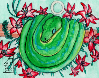 Green Tree Python (Circle)