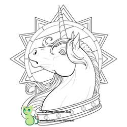 Regal (coloring page!)