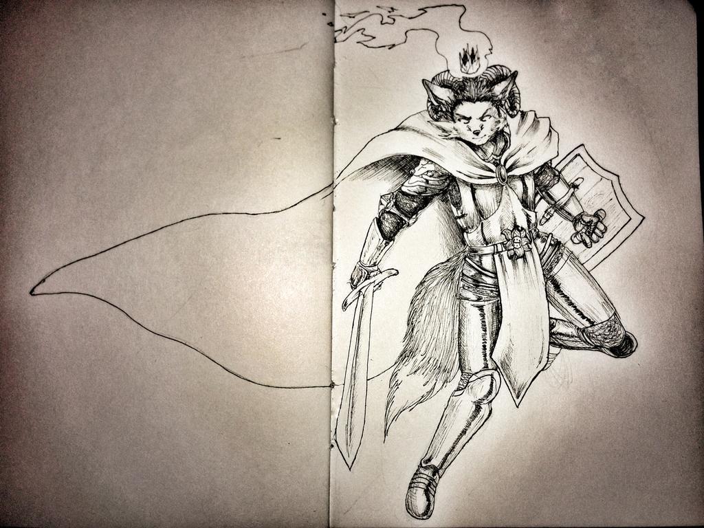 Featured image: Inktober knight