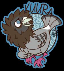 Kuura Mini Badge - Lineart
