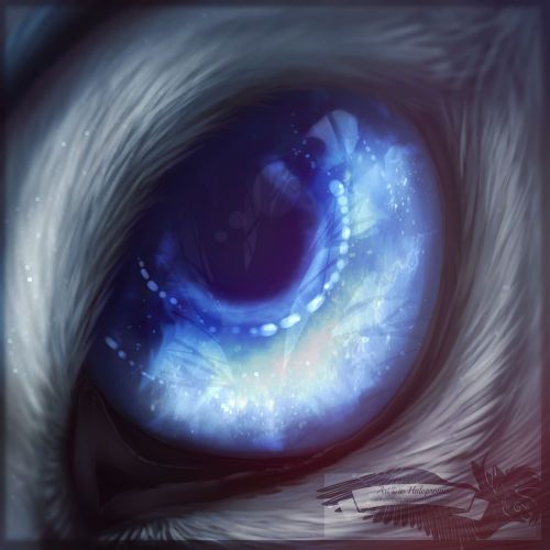 A galaxy in your eyes -commission-