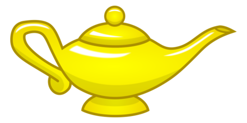 Artifacts Older Bronze Magic Lamp Gold