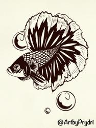 Inktober 1 - Fish