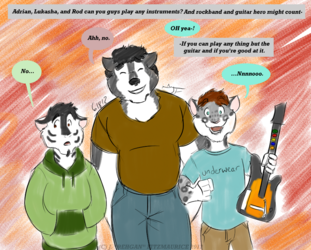 Ask and Draw: Musically Inclined