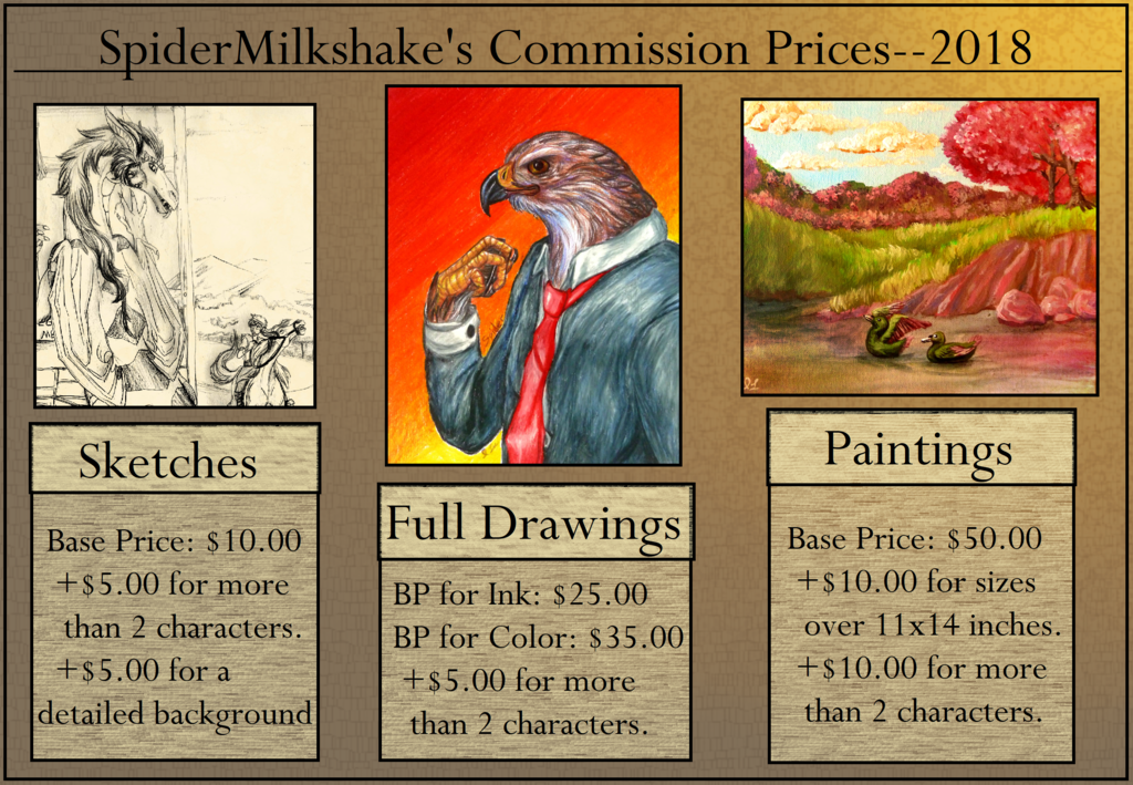 Commission Prices For 2018