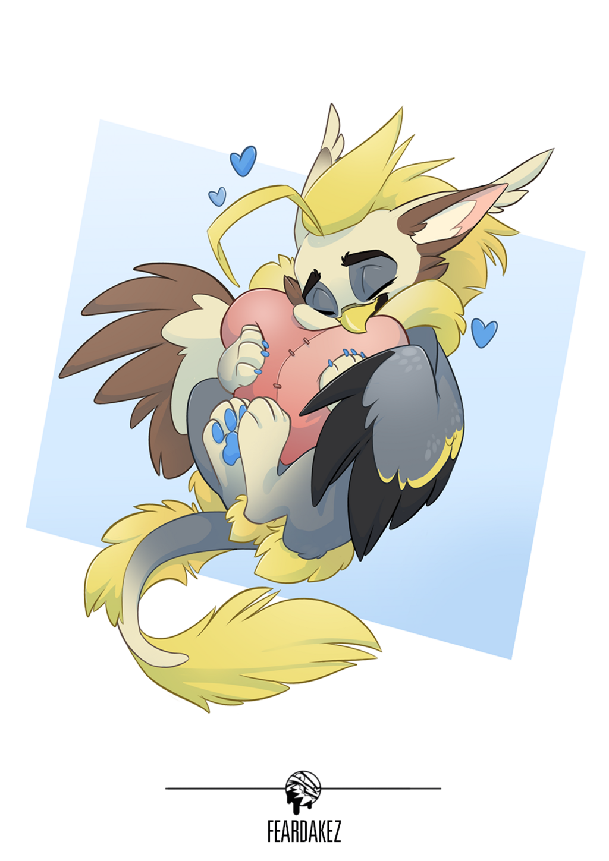 COMMISSION   Xel gives hug   FEARDAKEZ