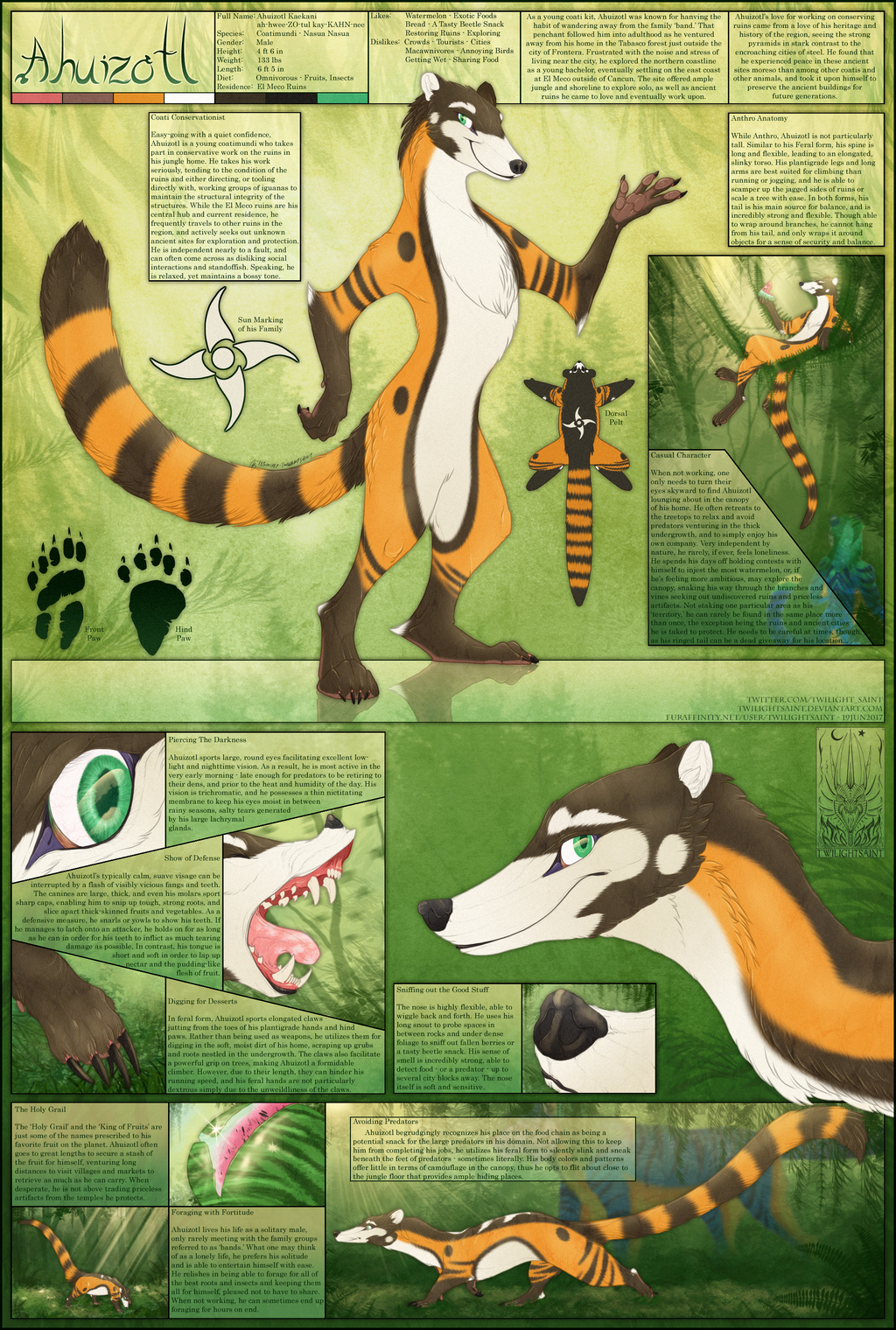 Most recent image: Personal - Ahuizotl Reference Sheet