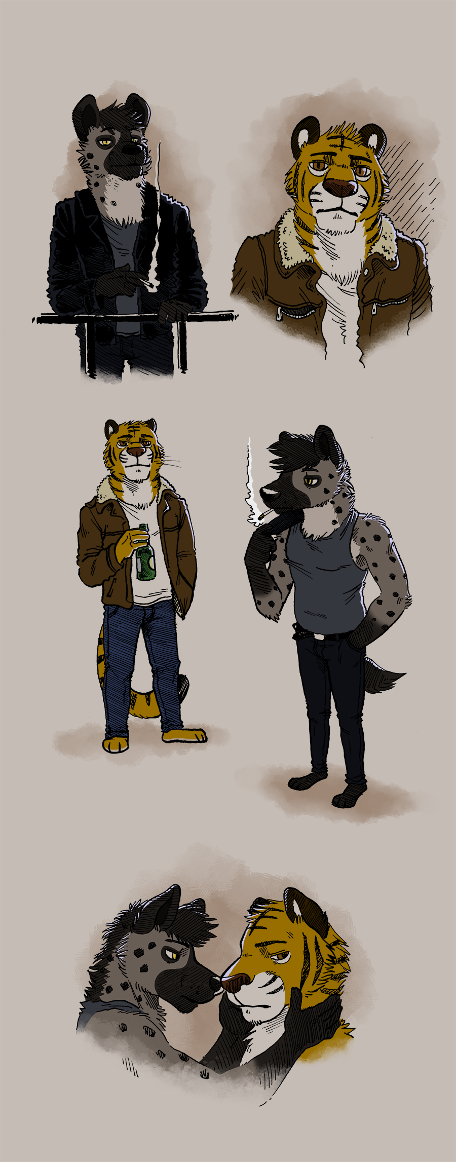 Most recent image: Hyena & Tiger designs