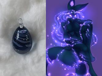 Celeste Handmade Glass Egg