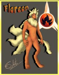 Anthro Flareon [COM]