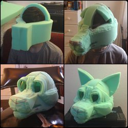 Foam Fursuit Head WIP - [Atlas]