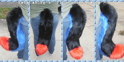 [C] HackSawDog's TriColoured Commissioned Tail