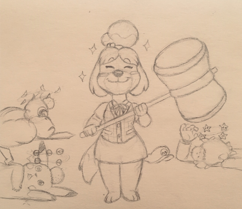 Isabelle joins SMASH BROS.