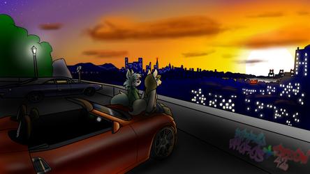 Baer Port sunset