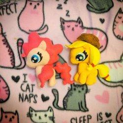 Pinkie Pie and Applejack Stuffed Animals