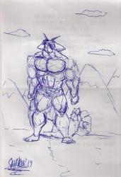 receipt sketch: mountain phaean