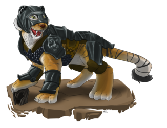Commission - RarySnowLion -  Tiger In Charge