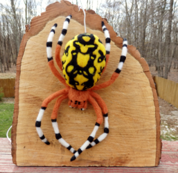 Marbled Orb Weaver Felted Wall Decor