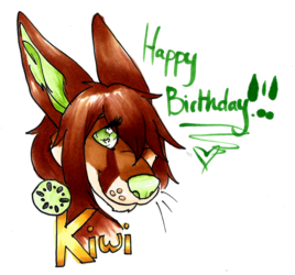 Birthday Badge - Kiwi