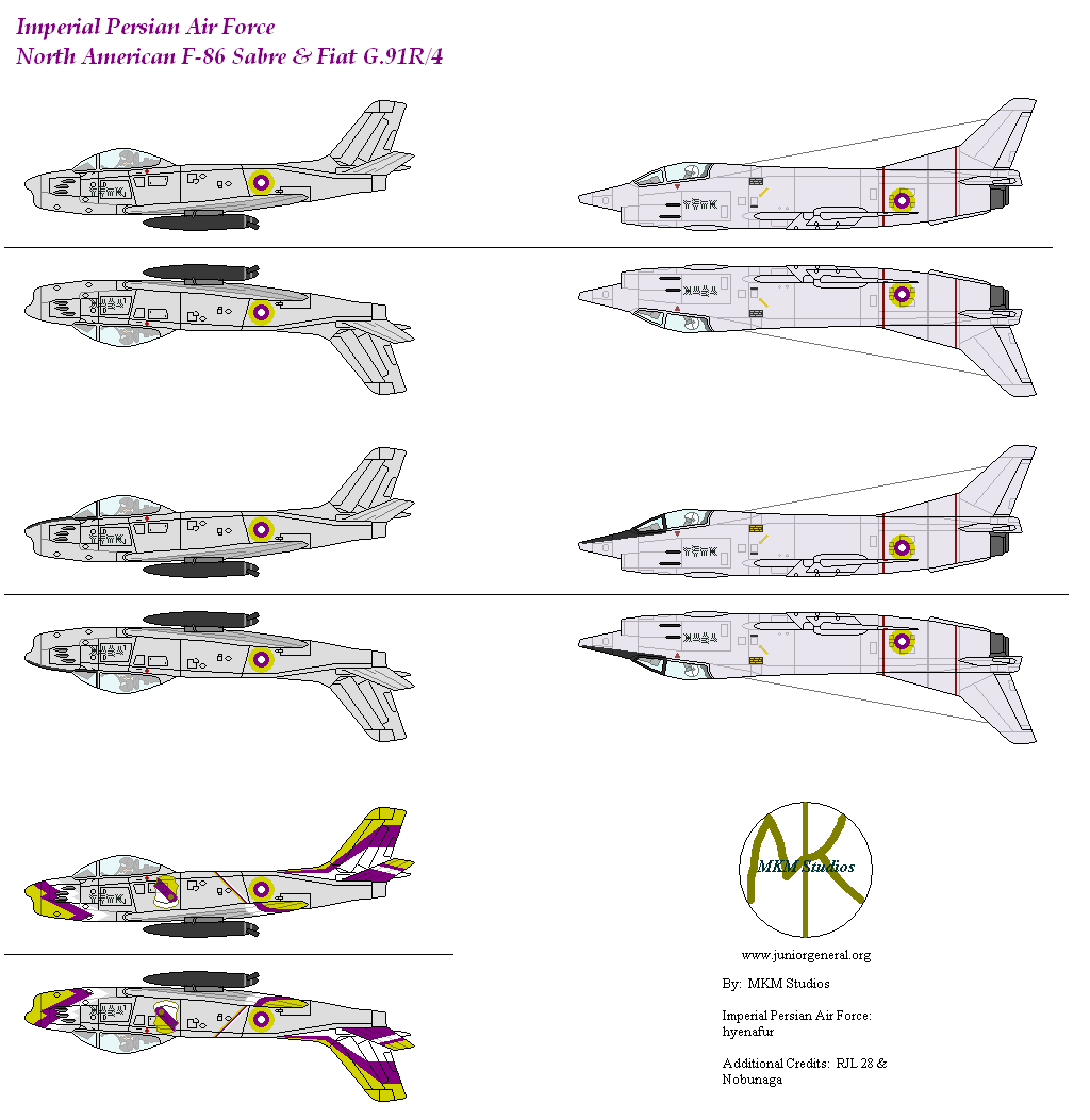Imperial Persian Air Force Sabres & G.91s