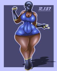 [Commission] FemPyro Blue