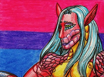Drakness--Bisexual Pride ACEO