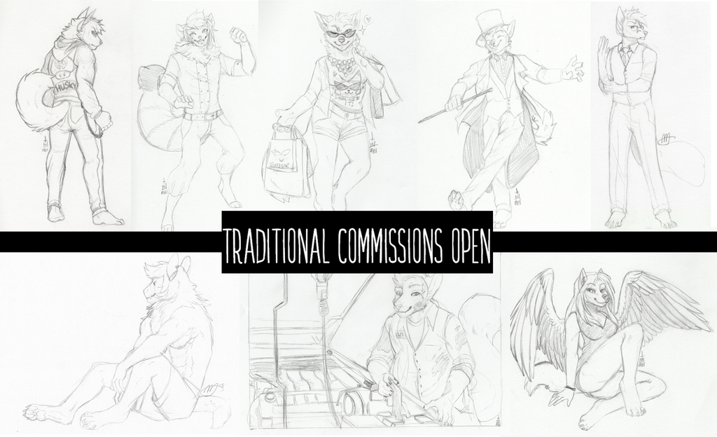 Traditional Sketches are available! $10