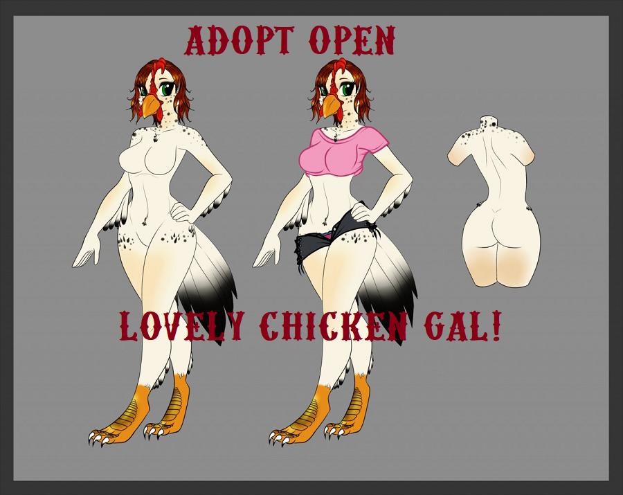 Most recent image: ADOPT: Chicken Gal - OPEN