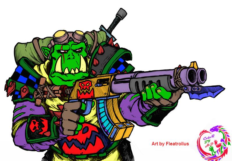 Color of ork shotgun 3b by Fleatrollus #01
