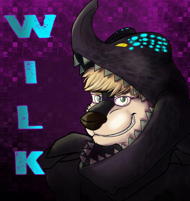Halloween Badge -Kaiju Wilk-
