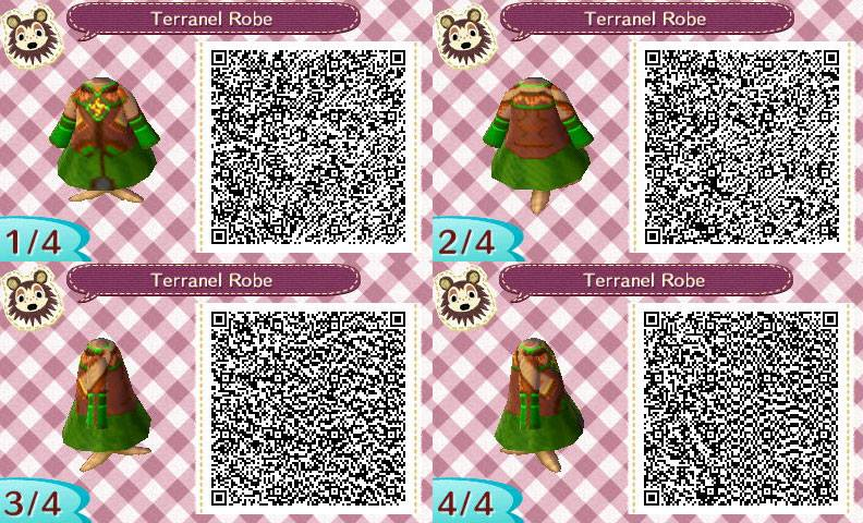 Terranel Robe QR Code For Animal Crossing New Leaf